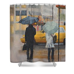 Two Curbside Shower Curtain