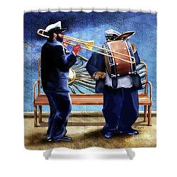 Two Da Jazz Way Shower Curtain