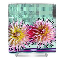 Two Dahlias Shower Curtain
