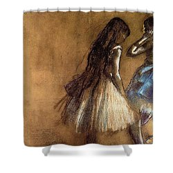 Two Dancers Shower Curtain by Degas