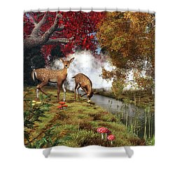 Two Deers Shower Curtain
