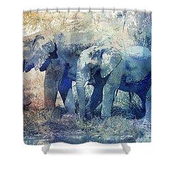 Two Elephants Shower Curtain