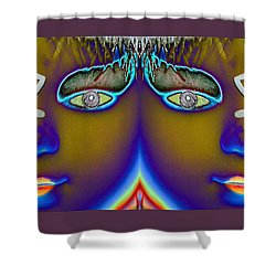 Shower Curtain featuring the digital art Mirrored  by Holly Ethan