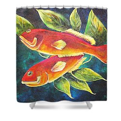 Two Fish Shower Curtain