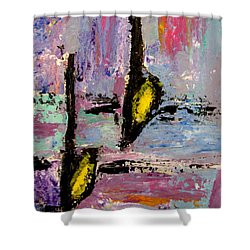 Two Flats Shower Curtain by Anita Burgermeister