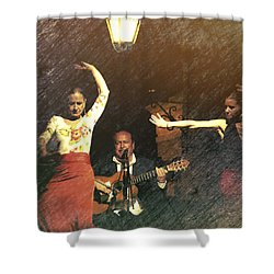 Two For Flamenco Shower Curtain