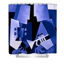 Two For The Blues Shower Curtain