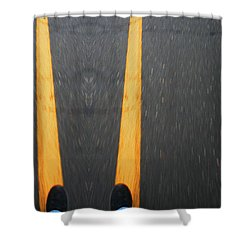Two For The Road Shower Curtain by Karol Livote