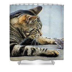 Two Friends Shower Curtain by Mike Ste Marie