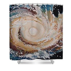 Two Galaxies Colliding Shower Curtain by Laara WilliamSen