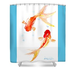 Two Goldfish Feng Shui Shower Curtain