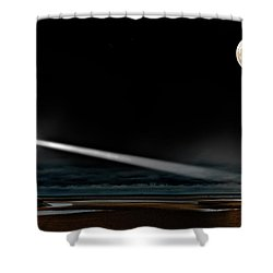 Two Guiding Lights Shower Curtain by Meirion Matthias