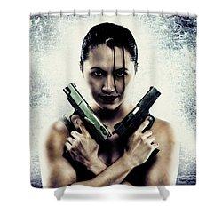 Lara Croft Shower Curtain