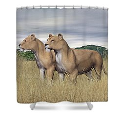 Two Hunters Shower Curtain