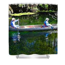 Two In A Canoe Shower Curtain by David Lee Thompson