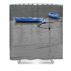 Shower Curtain featuring the photograph Two Kayaks by Sebastian Mathews Szewczyk