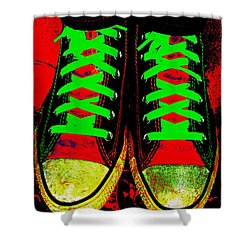 Two Left Feet Shower Curtain by Ed Smith