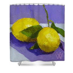 Two Lemons Shower Curtain