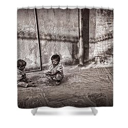 Two Little Boys Shower Curtain