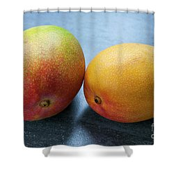 Two Mangos Shower Curtain by Elena Elisseeva