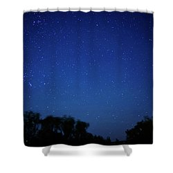 Two Meteors And A Fireball Shower Curtain