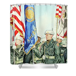 Two Months After 9-11  Veteran's Day 2001 Shower Curtain by Carolyn Coffey Wallace