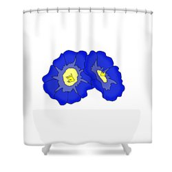 Two Morning Glories Shower Curtain