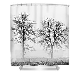 Shower Curtain featuring the photograph Two... by Nina Stavlund