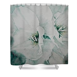 Shower Curtain featuring the painting Two Of A Kind by Carolyn Rosenberger