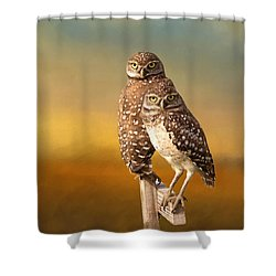 Two Of Us Shower Curtain by Kim Hojnacki
