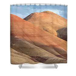 Shower Curtain featuring the photograph Two Painted Hills by Greg Nyquist