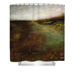 Shower Curtain featuring the painting Two Palominos by Frances Marino