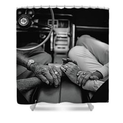 Two People In Love By Michael Grobin Shower Curtain