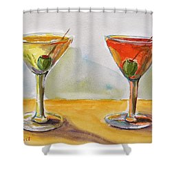 Two Perfect Martinis Shower Curtain