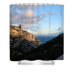 Two Point View Shower Curtain