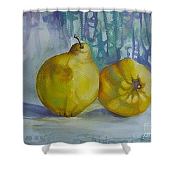 Two Quinces Shower Curtain