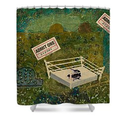 Two Rats Wrestling Shower Curtain