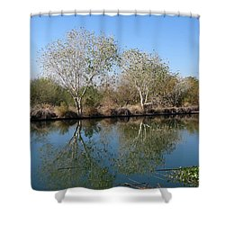 Two Reflected Shower Curtain by Laurel Powell