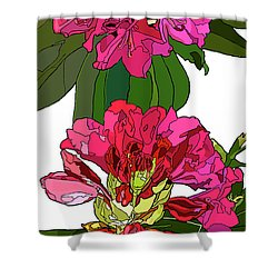 Two Rhododendrons Shower Curtain