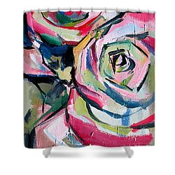 Two Roses Shower Curtain by John Jr Gholson