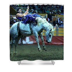 Two Seconds Later At The Grand National Rodeo Shower Curtain