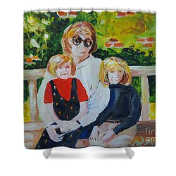 Two Sisters With Sweet Mom Shower Curtain