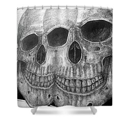 Shower Curtain featuring the photograph Two Skulls ... by Juergen Weiss
