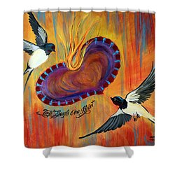 Two Souls One Heart Shower Curtain