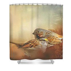 Sparrows In The Marsh 2 Shower Curtain