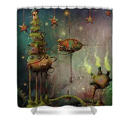 Two Star Cola  Shower Curtain
