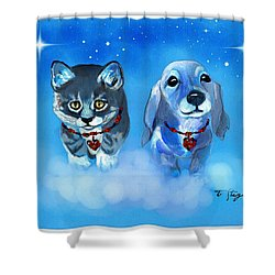 Two Sweeties Shower Curtain