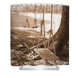 Two Swings - Sepia Shower Curtain