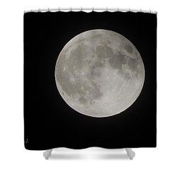 Two-tone Gray Moon Shower Curtain