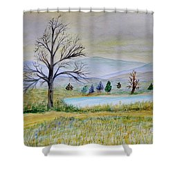 Two Tracking Shower Curtain